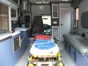 Inside HAA emergency vehicle
