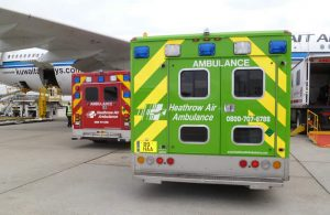 BAck View of HAA emergency vehicles